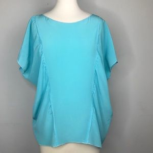 M Missoni Blue 100% Silk Blouse
